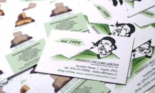 """Biglietti da visita """"Caseificio Facchini"""""""