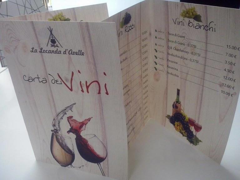 """Carta dei vini """"La Locanda d'Avelle"""""""