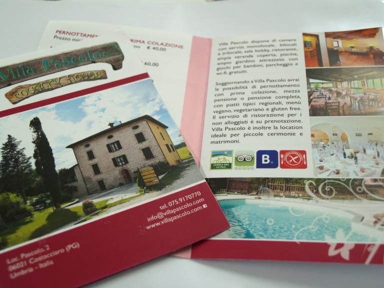 """Pieghevoli """"Villa Pascolo"""""""