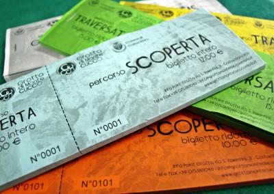 """Biglietti d'ingresso """"Grotta di Monte Cucco"""""""